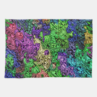 Colorful Chaotic Abstract Kitchen Towel