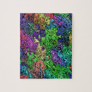 Colorful Chaotic Abstract Puzzles