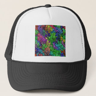 Colorful Chaotic Abstract Trucker Hat