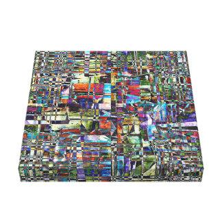 Colorful Chaotic Composite Canvas Print