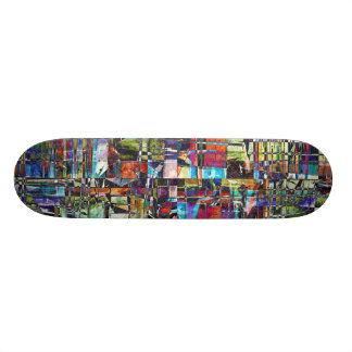 Colorful Chaotic Composite Skateboard Deck