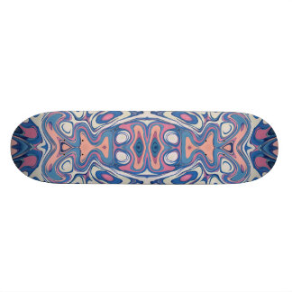 Colorful Chaotic Layers Skateboard