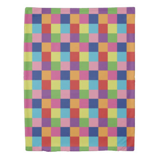 Colorful Checker Duvet Cover