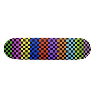 Colorful Checkered Deck Skateboard Decks