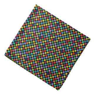 colorful checkered pattern bandana