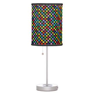 colorful checkered pattern desk lamp