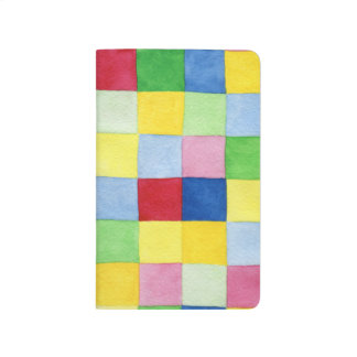 Colorful Checkered Pattern Journal for Journaling
