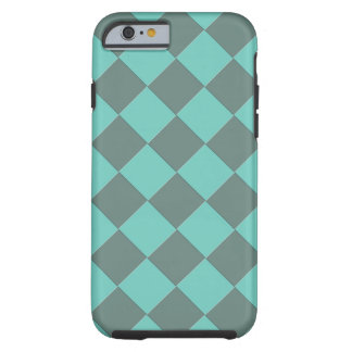 Colorful Checkers - Aqua Mint Tough iPhone 6 Case