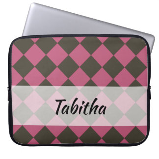 Colorful Checkers - Choco-Cherry Laptop Sleeve