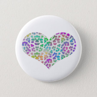 Colorful Cheetah 2 Inch Round Button