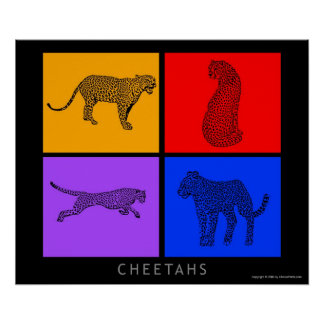 Colorful Cheetah Poster