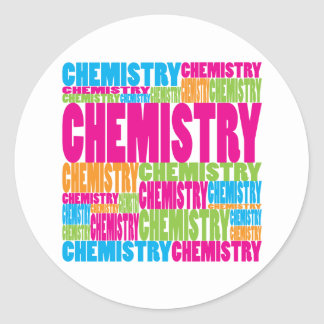 Colorful Chemistry Classic Round Sticker