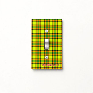 Colorful chess light switch cover
