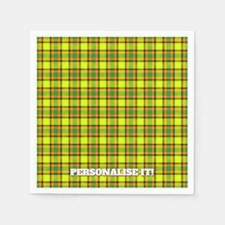 Colorful chess paper napkin