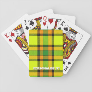 Colorful chess playing cards
