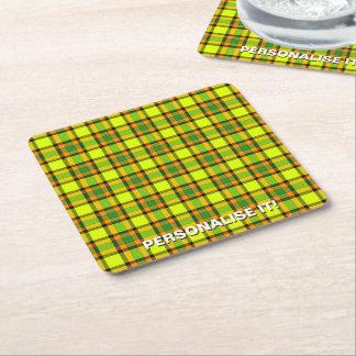 Colorful chess square paper coaster