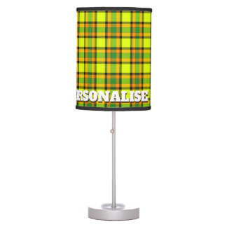 Colorful chess table lamp