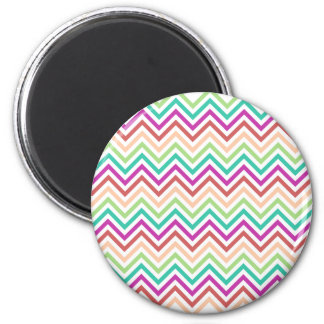 Colorful Chevron 2 Inch Round Magnet