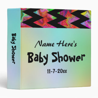 Colorful Chevron Baby Shower Binders