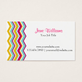 Colorful Chevron Business Card