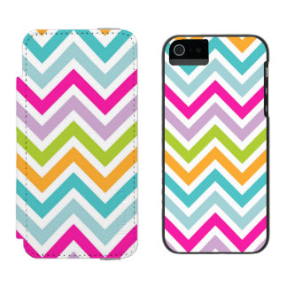 Colorful Chevron iPhone 5/5s Incipio Wallet Case Incipio Watson™ iPhone 5 Wallet Case