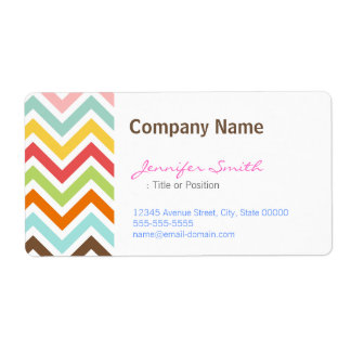 Colorful Chevron Zigzag Stripes Pattern