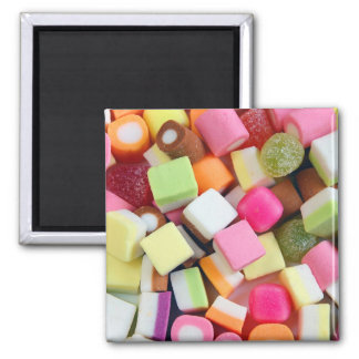 Colorful chewy candy print magnet