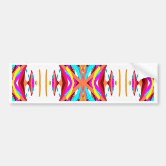 Colorful Chic Modern Tribal Pattern Bumper Sticker
