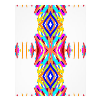 Colorful Chic Modern Tribal Pattern Letterhead Design
