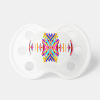 Colorful Chic Modern Tribal Pattern Pacifier