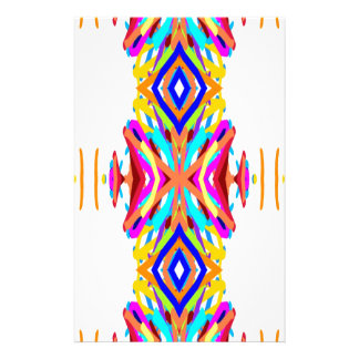 Colorful Chic Modern Tribal Pattern Personalized Stationery