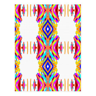 Colorful Chic Modern Tribal Pattern Postcard