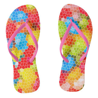 Colorful Chic Pattern Flip Flops