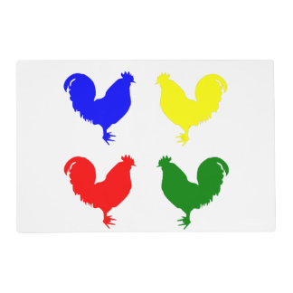 Colorful Chicken Laminated Place Mat