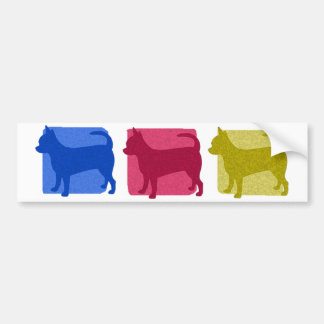 Colorful Chihuahua Silhouettes Bumper Sticker