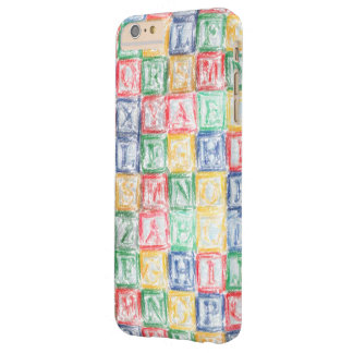 Colorful  Children's Blocks Barely There iPhone 6 Plus Case