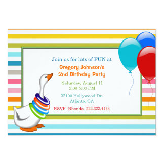 Colorful Child's Birthday Party Invitation