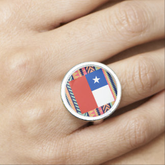 Colorful Chile Flag Box Ring