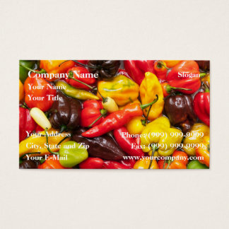 Colorful chili business card