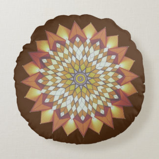 Colorful Chinese - Hippies Round Pillow
