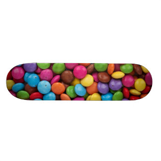 Colorful Chocolate Buttons Skateboard