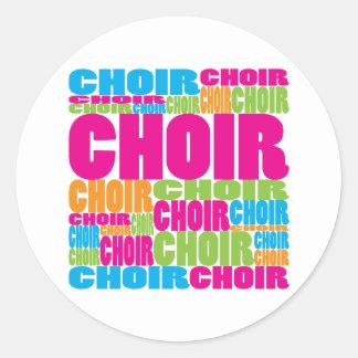 Colorful Choir Round Sticker