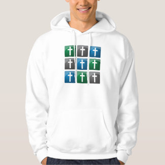 Colorful Christian Crosses Hoodie