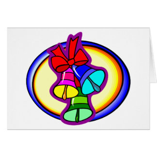Colorful Christmas Bells Note Card