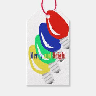 Colorful Christmas Lights Gift Tags