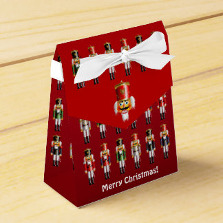 Colorful Christmas Nutcracker Toy Soldiers Favor Box