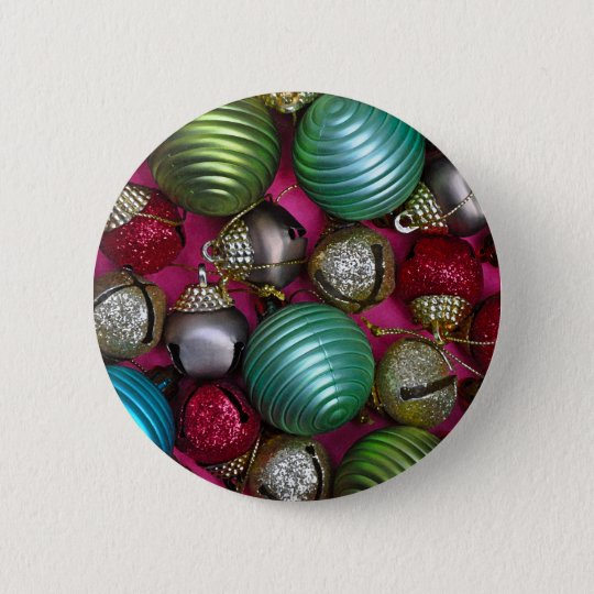 Colorful christmas ornaments 2 inch round button