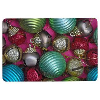 Colorful christmas ornaments floor mat