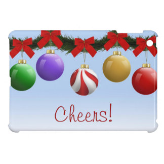 Colorful Christmas Ornaments Cover For The iPad Mini