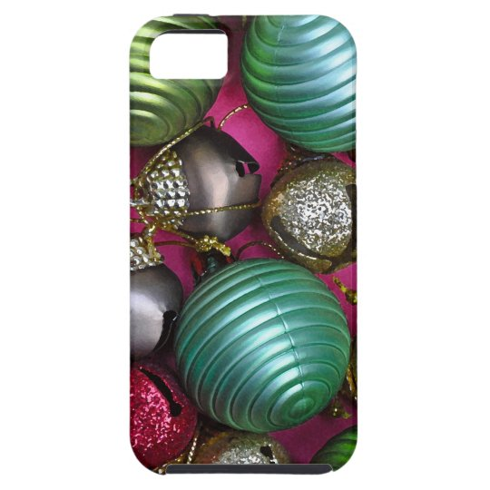 Colorful christmas ornaments iPhone 5 covers